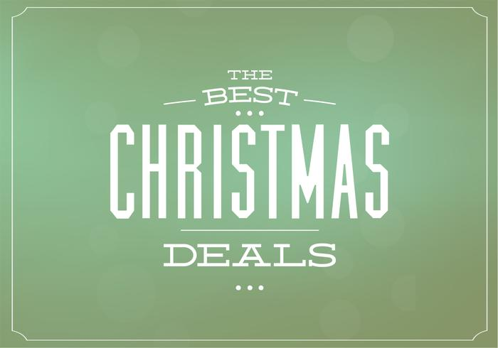 Christmas Deals Vector Background